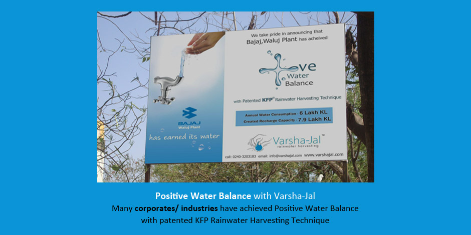 Be positive water balance with KFP RWH